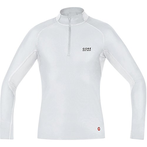 Gore Bike Wear Men's Windstopper  Base Layer Turtleneck Top, Light Grey/White, Large (Gore Windstopper)