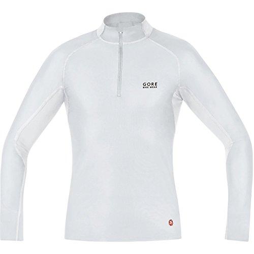 Gore Bike Wear Men's Windstopper  Base Layer Turtleneck Top, Light Grey/White, Large (Windstopper Gore)