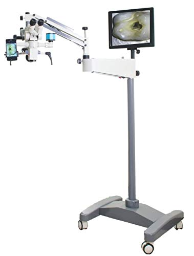 Tiltable Dental Surgical Operating Microscope 0-180 Degree 5 Step Magnification with Beam Splitter,HD Camera,LED TV Complete Set (110-240V)