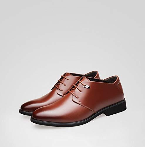 uomo estate Scarpe pelle da Marrone nere uomo in con scarpe marroni scarpe pelle uomo da scarpe in pelle da sera in d'affari WFL da zdqwZZf