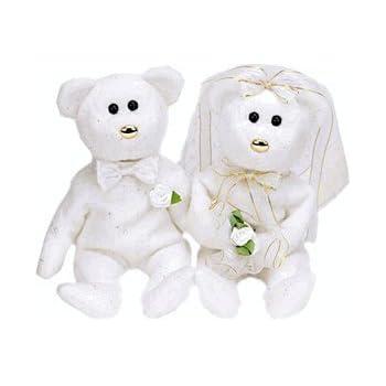 0f79322832b Amazon.com  TY Beanie Babies - Set of 2 Wedding Bears ( HIS   HERS ...