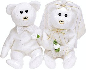 - TY Beanie Babies - Set of 2 Wedding Bears ( HIS & HERS )