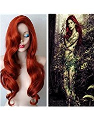 Longlove Copper Red Hair Female Cartoon Character Halloween Masquerade Playing Game Big Wave Wig (Big Red Hair Halloween)
