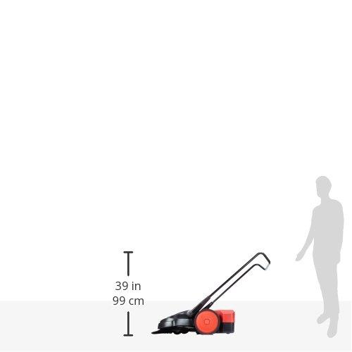 beste Reinigungsleistung im gewerblichen Bereich Haaga 497400 Kehrmaschine//Handkehrmaschine 497 Profi f/ür Fl/ächen bis 2000m/² egal ob nass f/ür anspruchsvollen Einsatz trocken oder grober Schmutz