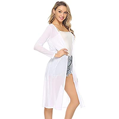 Abollria Women's Long Sleeve Cardigans Open Front Draped Kimono Loose Cardigan at Amazon Women's Clothing store