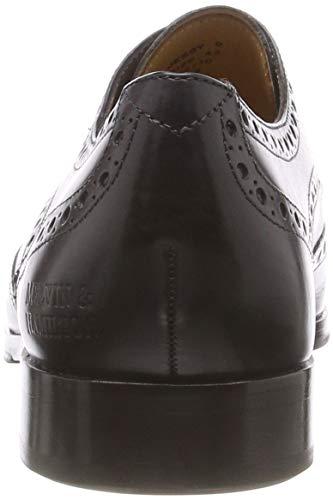 Black Blk Negro Hrs Crust Black Hrs amp;Hamilton Zapatos Blk para Derby Jessy 6 Cordones Mujer de Melvin Crust P4wzTgWq