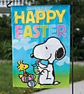 Peanuts Easter Garden Flag Snoopy Happy Easter