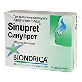 Sinupret® - nose remedy. - loosens the mucus, clears and relieves 50 tablets by Bionorica