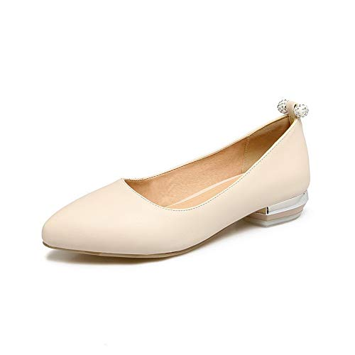 Shoes Comfort Casual Womens Leather Beige Solid APL10503 Pumps BalaMasa nFqaAfzn