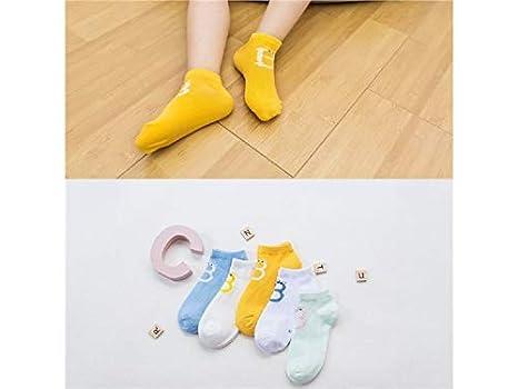 XDXDWEWERT 5 pares de niños calcetines de malla de algodón calcetines niños  primavera y verano estilo 231454605b6