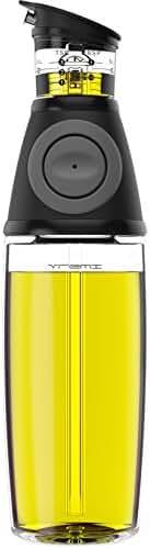 Vremi Olive Oil Dispenser Bottle - 17 Oz Oil Bottle Glass with No Drip Bottle Spout - Oil Pourer Dispensing Bottles for Kitchen - Olive Oil Glass Dispenser to Measure Cooking Vegetable Oil and Vinegar
