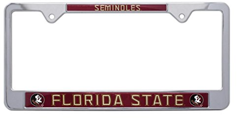 Auto State Florida - All Metal NCAA Mascot License Plate Frame (Florida State)