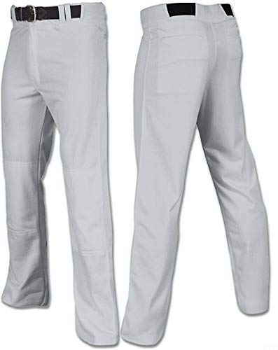 Joe's USA Open Bottom Relaxed Fit Baseball Pants - (Grey Adult 2X-Large)