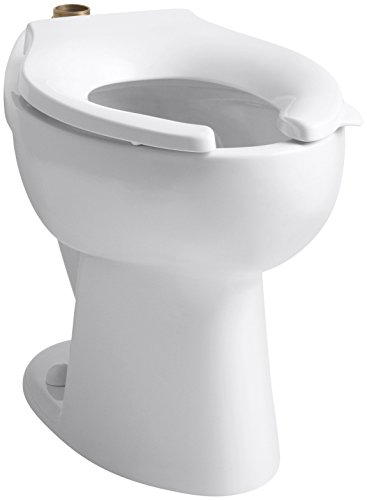 Kohler K-4302-0 High Crest Elongated Toilet Bowl with Top Spud, White (Bowl Only) - Highcrest Toilet Bowl
