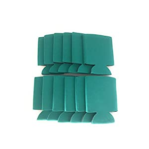 CSBD Blank Beer Can Coolers Premium Quality Soft Drink Collapsible Insulators Bulk, 12 Packs, 25 Packs, 50 Packs, Multiple Colors and Quantities (12, Teal)
