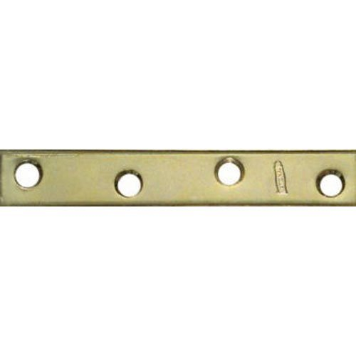 NATIONAL MFG/SPECTRUM BRANDS HHI N191-056 5/8-Inch x 4-Inch Mend Plate, Brass, 4-Pack