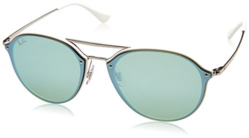 Ray-Ban 0rb4292n671/3062blaze Doublebridge Non-Polarized Iridium Square Sunglasses, White, 62 - Ray White Ban Clubmaster