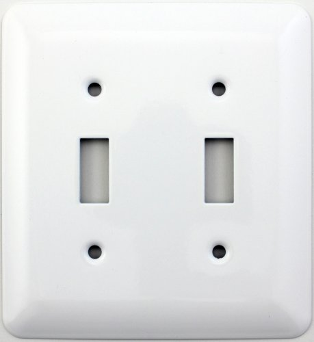 Buy switch plate covers white porcelain