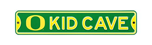 Authentic Street Signs NCAA College Officially Licensed STEEL Kid Cave Sign-Decor for sports fan bed room! … (Oregon Ducks)