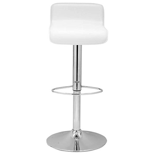 Safavieh Home Collection Aubrey White Leather Adjustable Gas Lift 20.5-30-inch Bar Stool
