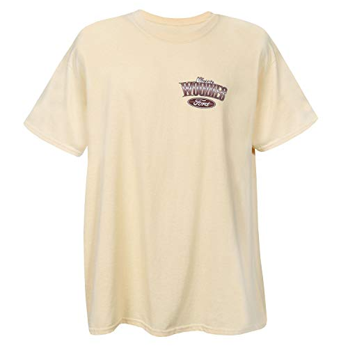 David Carey Officially Licensed Men's Ford Oval Woodies T-Shirt - Yellow Tee - XL