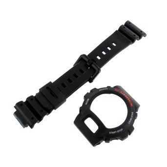 Band Bezel Wrist Watch (Casio Genuine Factory Replacement Resin Watch Band & Bezel Set fits DW-6600-1V DW-6600C-1V DW-6900-1V DW-6900BD-1V)