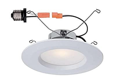 "Commercial Electric 5""&6"" White Recessed LED Trim"