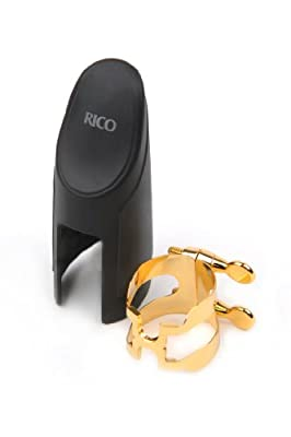H-Ligature & Cap, Alto Sax, Gold-plated from D'Addario &Co. Inc