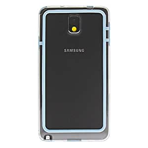 Transparent TPU Frame Bumper Case for Samsung Galaxy Note3 --- COLOR:White