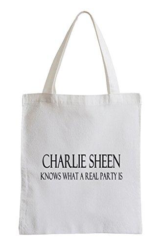 Charlie Sheen Party Fun Sex Drogen Jutebeutel