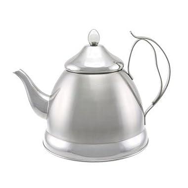 Evco International Creative Home Nobili-Tea Stainless Steel Tea Kettle, 2.0 quart, Silver