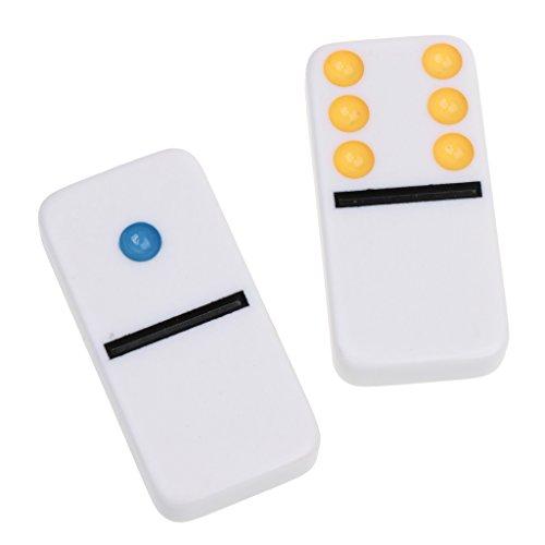 MonkeyJack Double Six Domino Set of 28 Pcs Board Kid Travel Game Toy Colorful Dot White by MonkeyJack (Image #8)