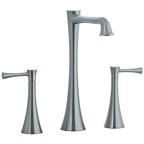 Cifial 245.180.620 Brookhaven Widespread High-Arc Bathroom Faucet with Lever Handles, Satin Nickel