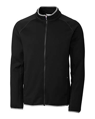 - Cutter & Buck Men's Discovery Windblock Jacket, Black, S