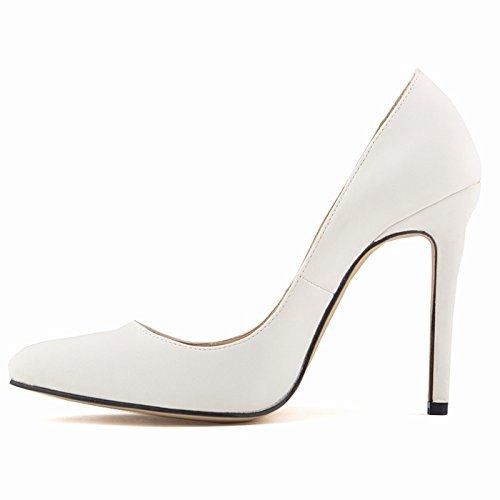 Suede Womens Prom Pointed Dress White Shoes Thin Party Pumps Dethan Heel Toe Bridesmaid High Wedding vq5x7wdnE7