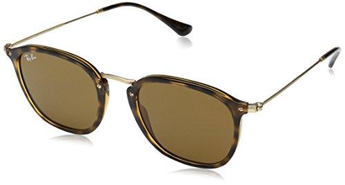 Ray-Ban Injected Unisex Square Sunglasses, Light Havana, 51 - Bridge Size Ray Ban