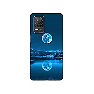 Casotec Awesome Moon Design 3D Printed Hard Back Case Cover for Realme 8 5G