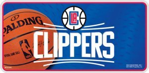 NBA Los Angeles Clippers Metal License Plate Tag