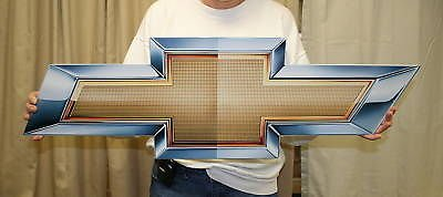 GM Chevrolet Bowtie Metal Wall Sign 34