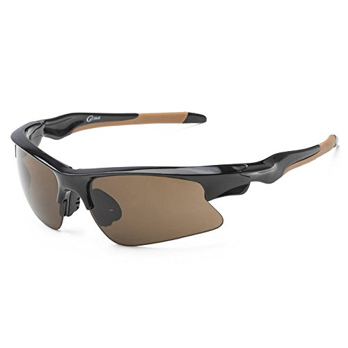 SACAS Professional UNBREAKBLE TR90 Frame Triathlon Sports Glasses for Cycling, Running, Golfing in Black - Glasses Golfing