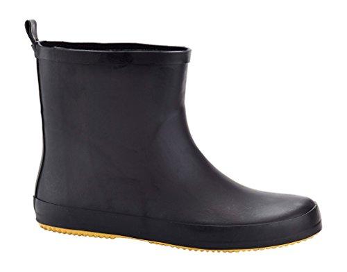 Black Rubber Rain Boots - 8