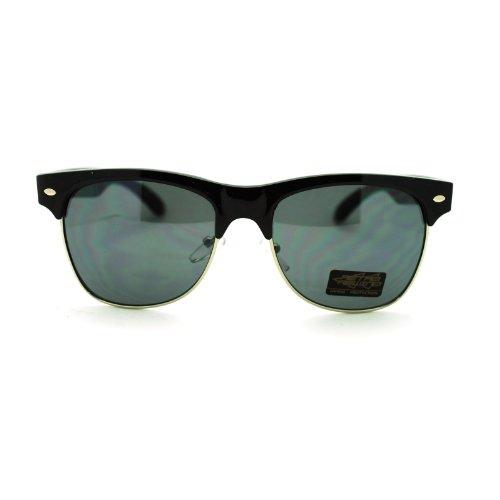 Mens Classic Vintage Fashion 20s Retro Classic Half Rim Retro Classic Sunglasses - Glasses Mens 1920s