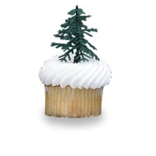 24 ct evergreen trees for cake and cupcake decorating - Christmas Cake Decorations Amazon