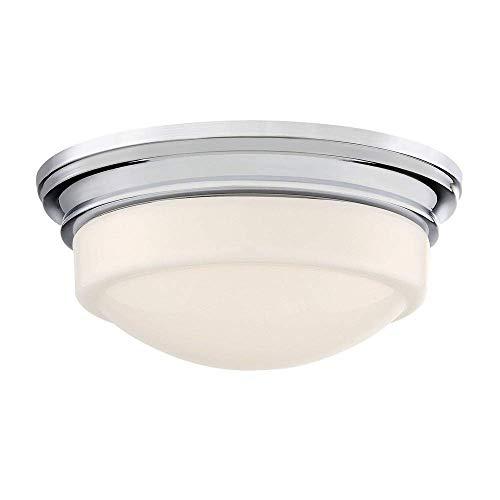 (Quoizel QF3416C Stark Flush Mount Ceiling Lighting, 1-Light, LED 13 Watts, Polished Chrome (4