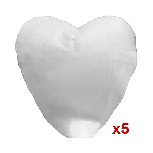 5pcs White Heart Shape Sky Fire Chinese Lanterns Paper Wish Lamp Candle for Wedding Christmas Party, Outdoor Stuffs