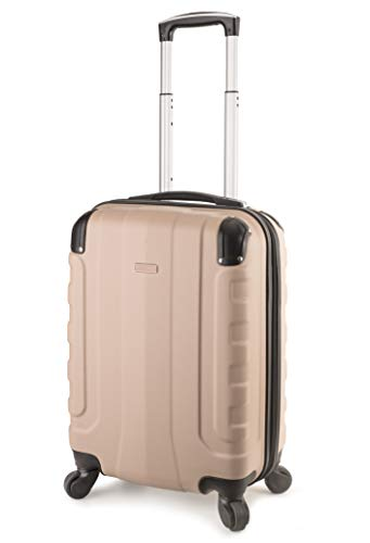 TravelCross Chicago 20'' Carry On Lightweight Hardshell Spinner Luggage - Champagne