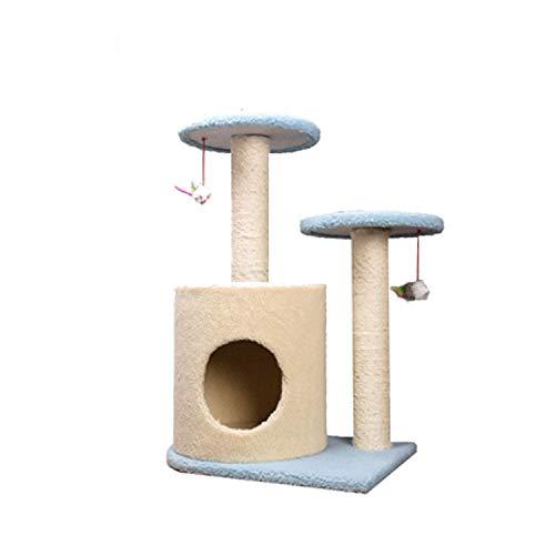 consegna veloce e spedizione gratuita per tutti gli ordini DMMW Lettiera per Gatti di Salto del Gatto del Gatto Gatto Gatto della Peluche dell'albero del Gatto del Telaio del Piccolo Gatto del sisal (Colore   Blu)  prezzo all'ingrosso