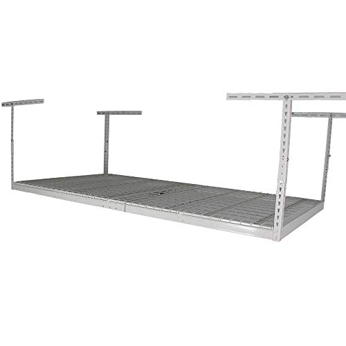 SafeRacks - 4x8 Overhead Garage Storage Rack Heavy Duty (18'-33' Ceiling Drop)