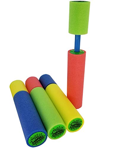 Water Shooter Super 4 Pack Water Blaster Set. Small (2'' x 2'' x 10'')