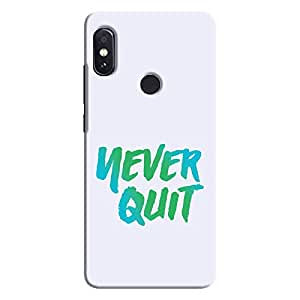 Cover It Up - Never Quit Redmi Note 5 Pro Hard Case